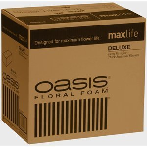 OASIS Floral Products BURTON-012736 Oasis Deluxe Floral Foam MaxLife (Case of 36 Bricks) Lawn Garden, White