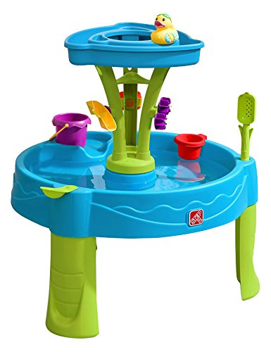 Step2 Summer Showers Splash Tower Water Table | Kids Water Play Table with 8-Pc Accessory Set