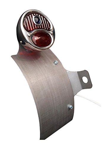 部品屋K&W vulcan (バルカン) サイドナンバーKIT (ホットロッドテール付) 純反り (リア側へ凸) P18130   B01GZQ5HMS
