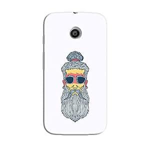 Cover It Up - Hipster Yogi Moto E Hard Case