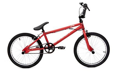 CLOOT Bicicletas BMX- Bici BMX Level Roja con Manillar rotativo y estribos