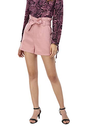 (Our Heritage Women's Shorts Women's Dusty Pink Paper Bag Shorts with Belt Sash (XL))