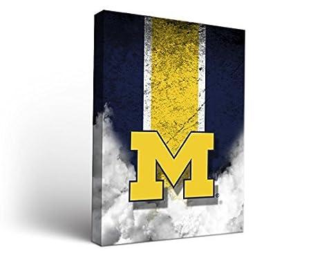 Amazon.com : Michigan Wolverines Canvas Wall Art Vintage Design ...