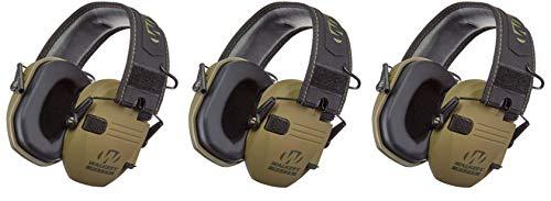 Walkers GWPRSEMPAT Razor Patriot Electronic Earmuff 23 dB OD Green/American Patch - 3 Pack by Walker's Game Ear