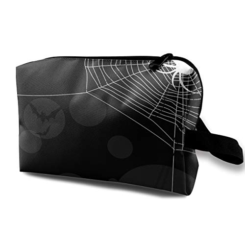 Lovesofun Cool Web Spider Pattern Portable Travel Storage Bags Luggage Cosmetic Packing Bag with Zipper for Travel Cubes Set for Travel ()
