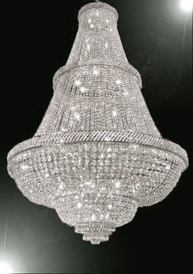FRENCH EMPIRE CRYSTAL CHANDELIER LIGHTING W/ SWAROVSKI CRYSTAL! 6FT TALL! – PERFECT FOR AN ENTRYWAY OR FOYER!