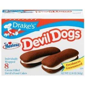 Gourmet Dog Cake - Drake's by Hostess 8 ct Devil Dogs Creme Filled Devil's Cakes 13.63 oz