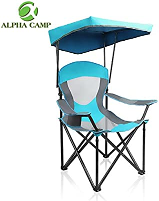 Terrific Alpha Camp Mesh Canopy Chair Camping Chair Folding Recliner Support 350 Lbs Uwap Interior Chair Design Uwaporg