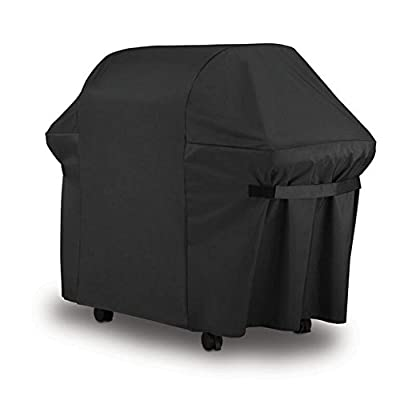 Weber BBQ Gas Grill Cover 7107: 44x60 in Heavy Duty Waterproof & Weather Resistant Weber Genesis & Spirit Series Outdoor Barbeque Grill Covers By GillCover by GillCover