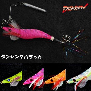 マルシン漁具 ダンシング八ちゃん 4号 (タコ釣り タコ掛 タコエギ) イエローの商品画像