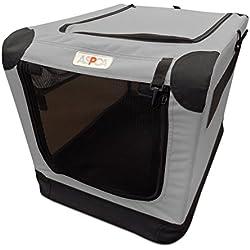 ASPCA Soft Crate, Small, Gray