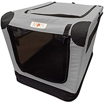 Amazon Com Aspca Soft Crate Large Gray Pet Supplies