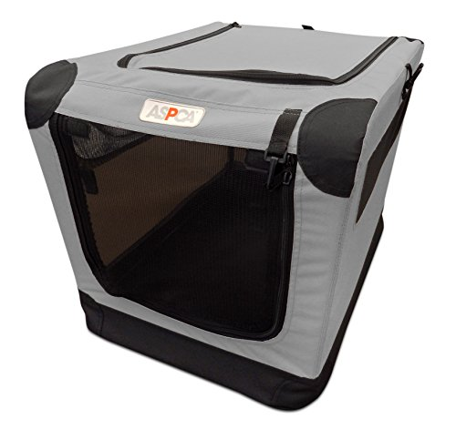 (ASPCA Soft Crate, Large, Gray)