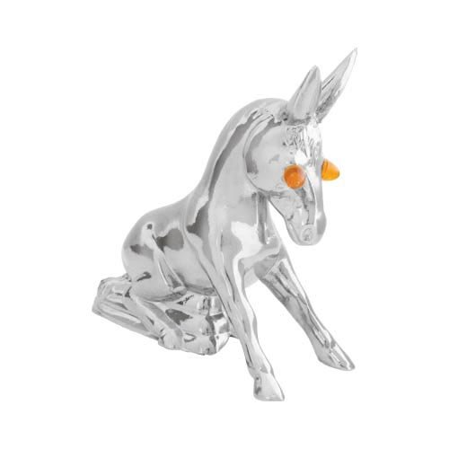 Grand General 48160 Chrome Novelty Donkey Hood Ornament with Illuminated Eyes