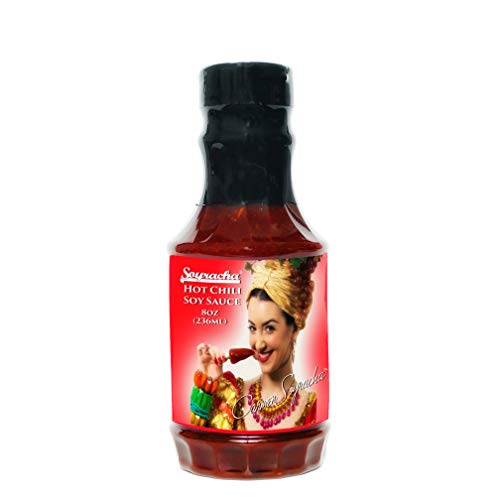 Carmen Soyracha's Hot Chili Miso Soy Sauce (8 Ounce PET Bottle) - Spicy Flavor for Stir-Fry, Grilled Food, Meat, Fish, Poultry - Made in the USA
