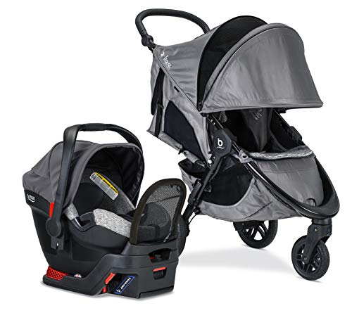 britax B-Free Sport Travel System with B-Safe Endeavors Infant Car Seat | All Terrain Tires + Adjustable Handlebar…