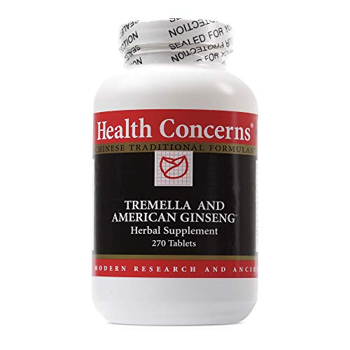 Health Concerns - Tremella & American Ginseng - Herbal Supplement - Supports Immune, Lung and Respiratory Function - 270 Tablets