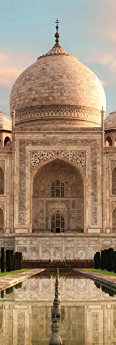 1art1 Taj Mahal Poster Art Print - The Crown of Palaces in The Morning Sun (62 x 21 inches)