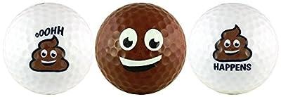 Poop Group Emoji Golf Ball Gift Set