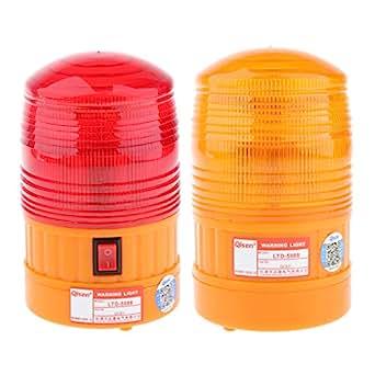 Flameer 2Pcs DC6V Magnetic Base Flash LED Warning Light/General Purpose Light Indicators