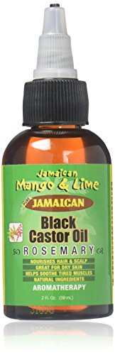 Jamaican Mango and Lime Black Castor Oil, Rosemary, 2 Ounce (Jamaican Black Castor Oil And Rosemary Oil)