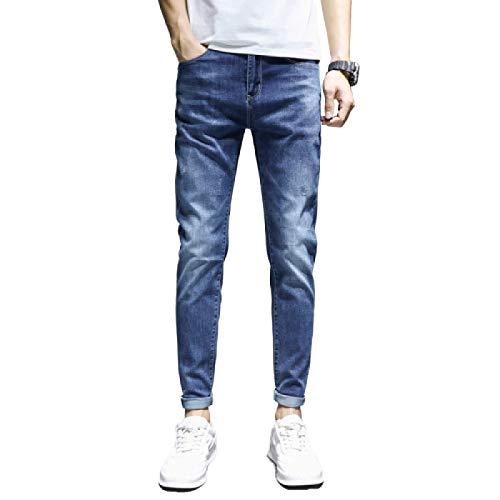 Herenjeans Lente en zomer Slim fit en elastische effen kleur Plus-size Koreaanse modebroek