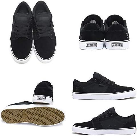 SHOES シューズ スニーカー BARGE LS 黒/白/黒 BLACK/WHTE/BLACK スケートボード スケボー SKATEBOARD