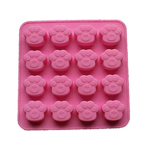 Bessyn Cute Silicone Ice Cube Trays Cat Paw Print Shape 16 Cubes Mold Pink BPA Free for Home Kitchen DIY Mold Soap Cookie Cake Chocolate Pudding Ice Cubes Jelly Party Bar Snack (pink)