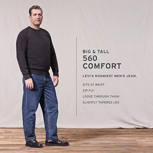 Levi's Men's Big & Tall 560 Comfort Fit Jean, Medium Stonewash, 60W x 28L