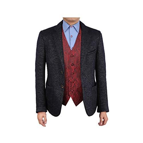 (Epoint EGC1B02C-5XL Red Black Patterns Manufacturers For Business-Casual Waistcoat Microfiber XXXXX-Large Vest)