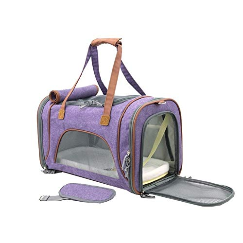 F3 C-Xka Pet Bag Carrier Large Size, Transparent Visible Window & Breathable in Soft-Sided, Airline Approved with Safety Locked Zippers, Easy Trips with Dogs and Cats