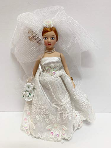 "Used, Show Stoppers 6"" Jointed Porcelain Bride Doll, Red-Head for sale  Delivered anywhere in USA"