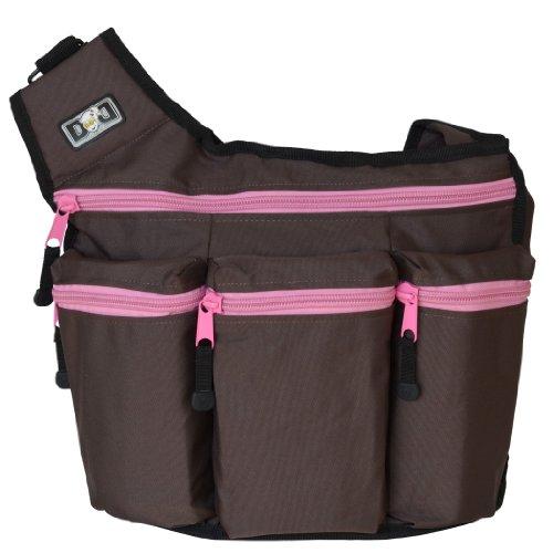 Diaper Dude Bag Brown Pink