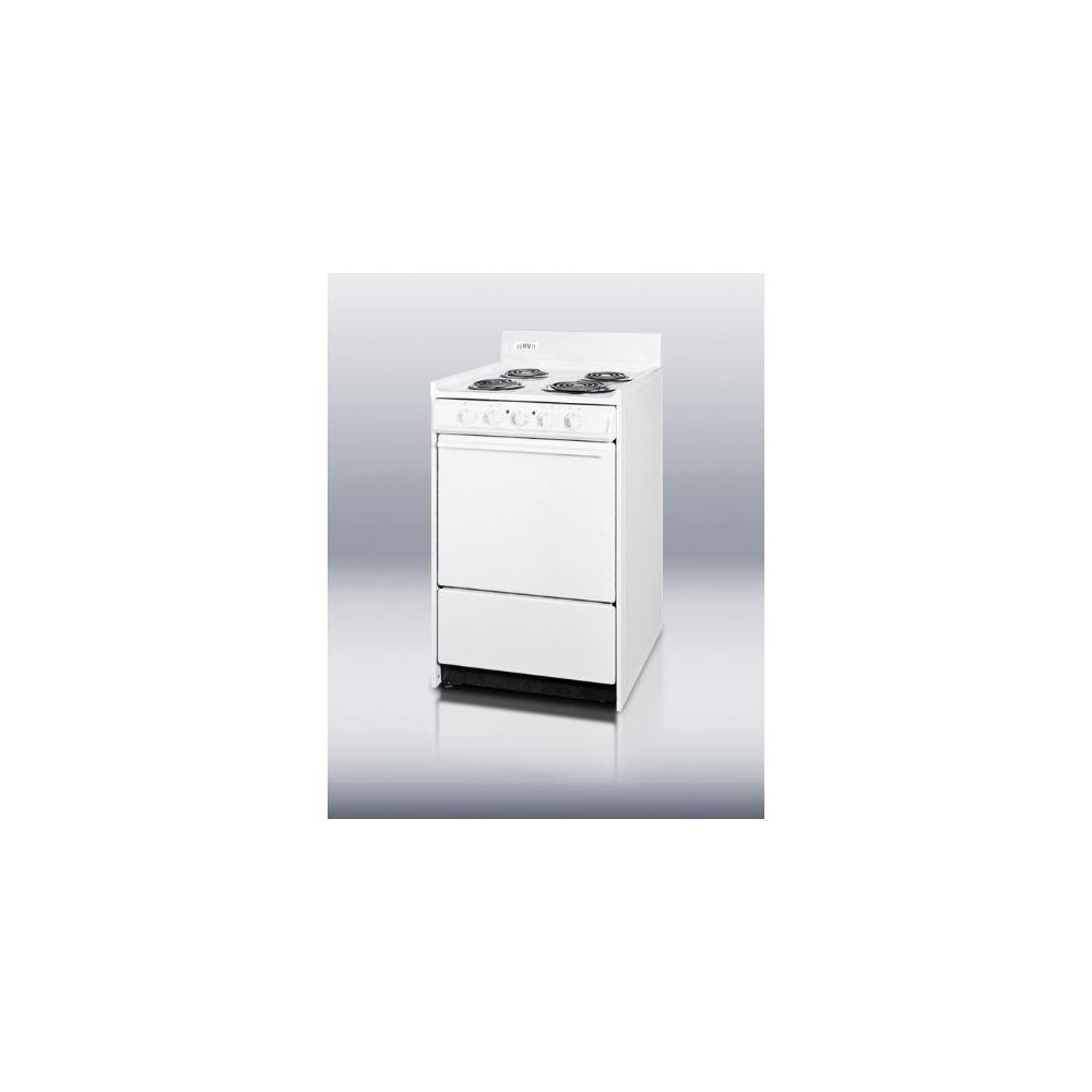 Summit WEM110 Kitchen Electric Cooking Range, White