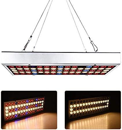 Luces de cultivo de plantas LED de 45 vatios, 144 lámparas de cultivo de plantas de interior de espectro completo con kit colgante, bombillas con planta hidropónica azul roja para germinación,220v