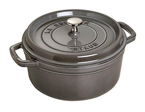 Staub 1101618 Round Cocotte Pot, 16 cm, Graphite Grey by staub (stove) by staub (stove)