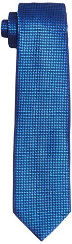 Park Avenue Men's Synthetic Necktie (PZNX18078-B6_Dark Blue_150)