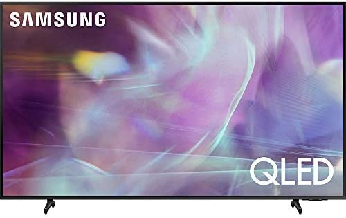 Samsung QN55Q60AA 55 Inch QLED 4K UHD Smart TV (2021) Bundle with Premiere Movies Streaming + 37-100 Inch TV Wall Mount + 6-Outlet Surge Adapter + 2X 6FT 4K HDMI 2.0 Cable 41OHekn9HQL