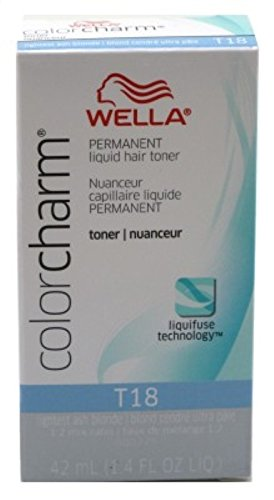 Wella Color Charm Liquid Toner #T18 Lightest Ash Blonde (41ml) (3 Pack)