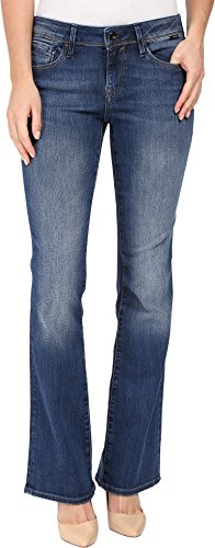 Fly Jeans Zip Rise Mid (Mavi Jeans Women's Ashley Mid-Rise Bootcut in Mid Indigo Gold Mid Indigo Gold 31 34)