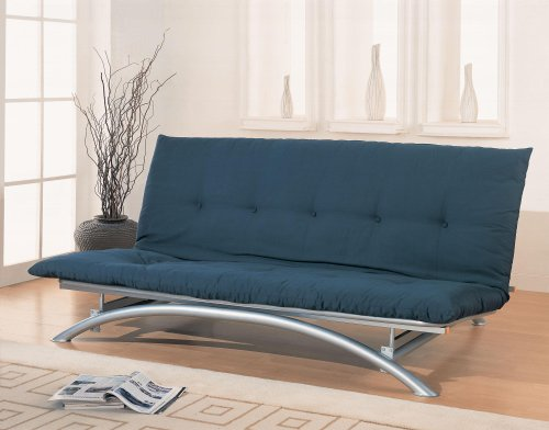coaster-metal-futon-frame-silver-finish