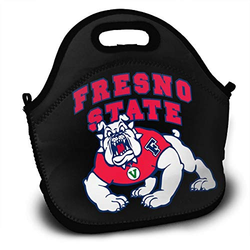 (Fresno State Bulldogs Football Polyester Lunch Bag Stylish Lunch Box for Work School)