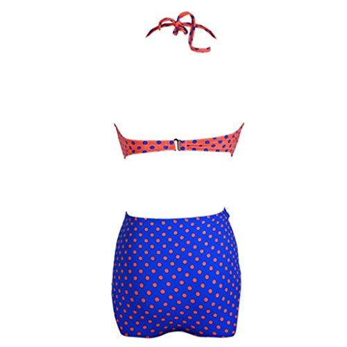 Tailloday - Conjunto - para mujer Rojo Y Azul