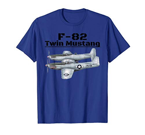A great F-82 Twin Mustan Aviation t-shirt. for sale  Delivered anywhere in USA