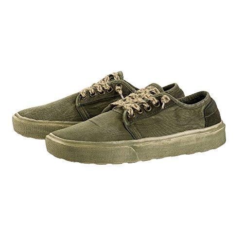 Salvia Shoes Buster Dude Verde Maschile Lavato qTn0zFRw