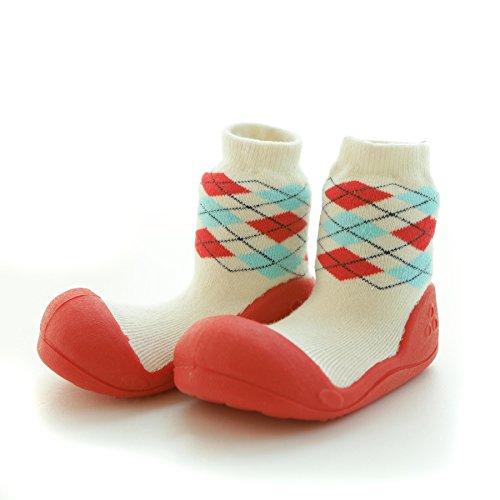 attipas Argyle Rojo Bebé Walker–Zapatos de bebé Zapatos Zapatillas, Rojo - rojo, 22.5