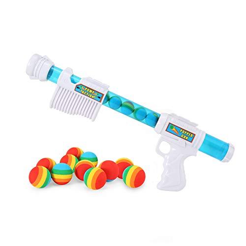 FUNEW Power Popper Gun, Foam Ball Air Powered Shooter Toy Guns, 11X Shooter Battle Toy
