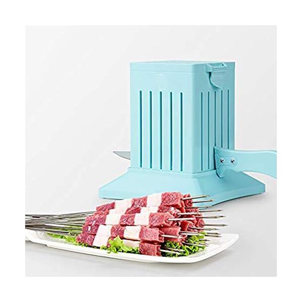 JNT- 36 Holes Carne Spiedino Kebab Maker Box macchina carne di manzo Cuber Maker Grill Barbecue Cucina Accessori… 3 spesavip