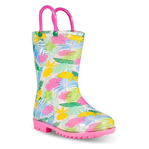 ZOOGS Children's Rain Boots Handles, Little Kids & Toddlers, Boys & Girls