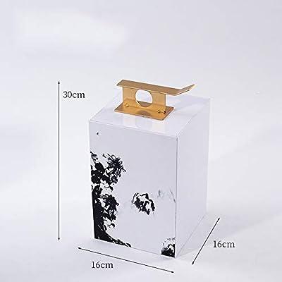 ZTAA 1 Pieza Sala de Estar Partición Caja de Almacenamiento Tinta Paisaje Pintura Acrílico Decoración Salón de té TV Gabinete Modelo Decoración de la habitación,B: Amazon.es: Hogar